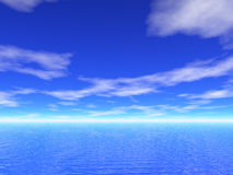 3d Sea and sky view Royalty Free Stock Images