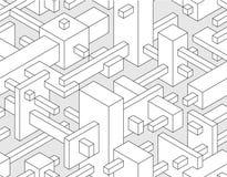 3d seamless Background. Modern 3d block technical style seamless background Stock Photography