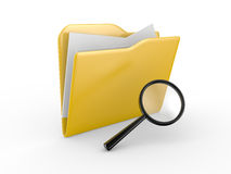 3D search folder Royalty Free Stock Image
