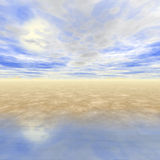 3D Seascape Royalty Free Stock Images
