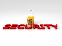 3D Security Lock Stock Photo