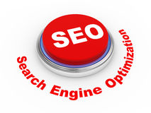 3d Seo button. 3d illustration of shiny seo (search engine optimization) button Royalty Free Stock Photos