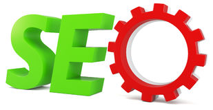 3d seo Search Engine gears Stock Image