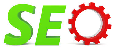 3d seo Search Engine gears Royalty Free Stock Photo