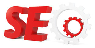 3d seo Search Engine gears Royalty Free Stock Photography