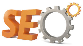 3d seo Search Engine gears Royalty Free Stock Images