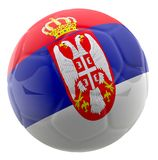 3D Serbia football Stock Image