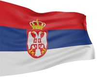 3D Serbian flag Royalty Free Stock Photos