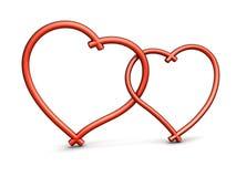 3d serca Zdjęcie Stock