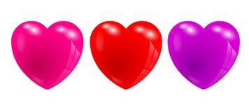 3d serca Obraz Stock