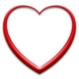 3d serce czerwień Obrazy Royalty Free