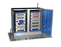 3d server console 2 Royalty Free Stock Photo