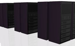 3D server farm computer design Royalty Free Stock Photography