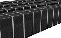 3D server farm computer design Royalty Free Stock Images