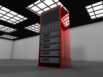 3D server illustration. 3D server farm computer illustration Stock Photo