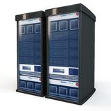 3d server rack units Stock Photo