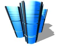 3D serverlandbouwbedrijf Stock Afbeeldingen
