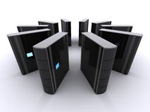 3d servers Stock Photography