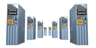 3d servers #5 Royalty Free Stock Images