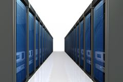 3d servers datacenter vector illustratie