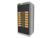 3d Servers-Orange #1 Royalty Free Stock Photography