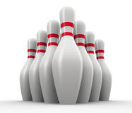 3d set of bowling skitties Royalty Free Stock Photography