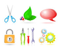 3d set of icon Stock Photography