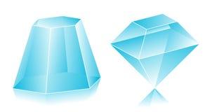 3D shape. Blank translucent 3d shapes design illustration Royalty Free Stock Image