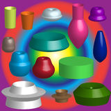 3D Shapes Royalty Free Stock Photo