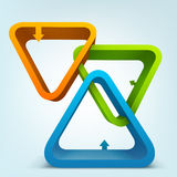 3d shapes with arrows Royalty Free Stock Image