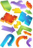 3D Shapes Set. Set of various 3D shapes and symbols Royalty Free Stock Image