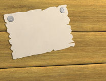3d sheet of a paper, attached by buttons to board Royalty Free Stock Images