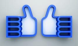 3D shelves design form blue color. Like  on background Stock Photography
