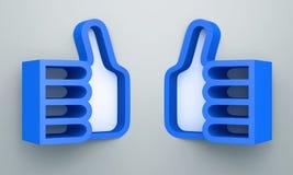3D shelves design form blue color. Like  on background Royalty Free Stock Images