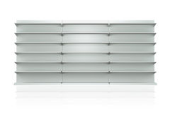 3D shelves and shelf. For wrap advertising on a white background Royalty Free Stock Image