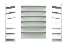 3D shelves and shelf. For wrap advertising on a white background.isolated Royalty Free Stock Photos
