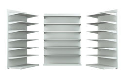 3D shelves and shelf. For wrap advertising on a white background.isolated Royalty Free Stock Photo