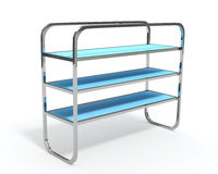 3D shelves and shelf Royalty Free Stock Image
