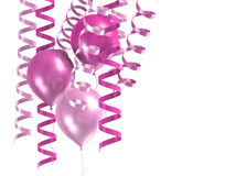 3d shiny ballons Royalty Free Stock Images