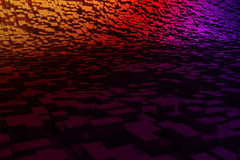 3d shiny chrome abstract background. Stock Images
