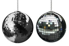 3d shiny disco ball. On white background Stock Images