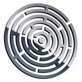 3d shiny maze Stock Image