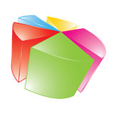 3d shiny pie chart Royalty Free Stock Photography