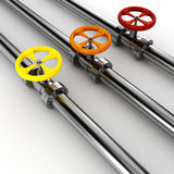 3d shiny pipelines on white Royalty Free Stock Photos