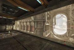 3D ship interior Royalty Free Stock Photography