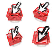 3d shopping array Stock Images