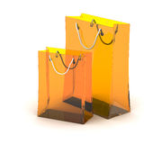 3d shopping bag Royalty Free Stock Images