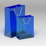 3d shopping bag royalty free illustration