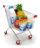 3d shopping cart Stock Images