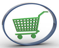 3d shopping cart icon Royalty Free Stock Photography